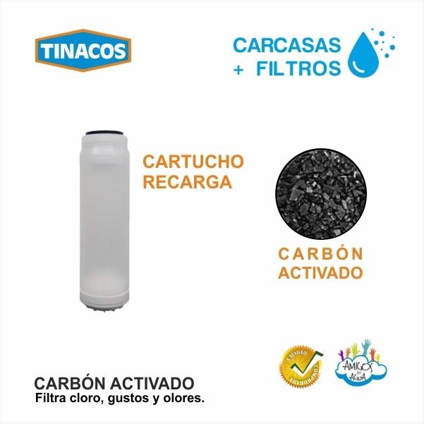 CARTUCHO + CARBÓN ACTIVADO TINACOS